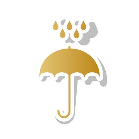 Rain protection symbol Flat design style.