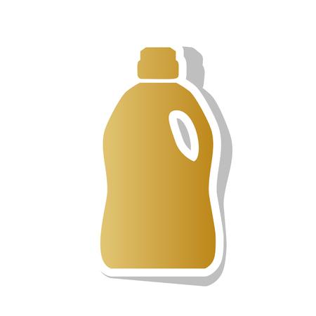 Plastic bottle vector illustration