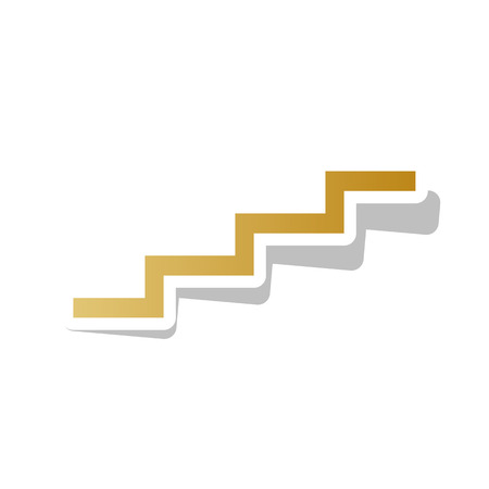 Stairs going up sign vector illustration Foto de archivo - 99374949