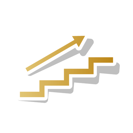 Stairs with arrow going vector illustration Foto de archivo - 99374958
