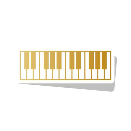 Piano Keyboard sign vector illustration