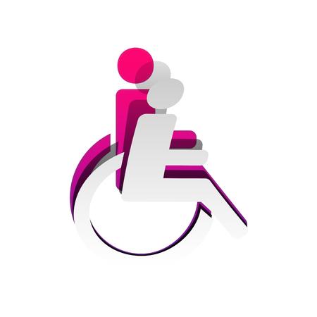 Disabled sign illustration. Vector illustration.