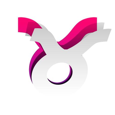 Taurus sign illustration. Vector illustration. Illustration