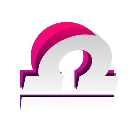 Libra sign illustration. Vector illustration.