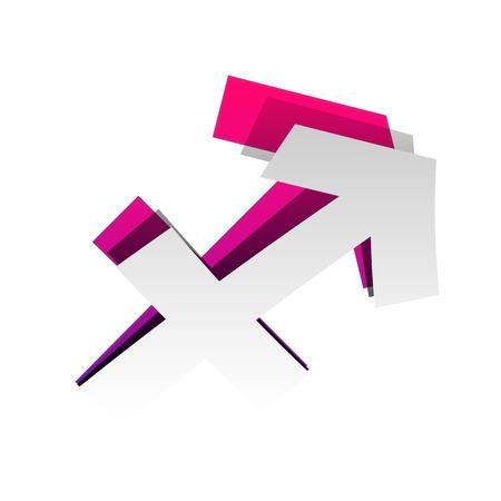 Sagittarius sign illustration. Vector illustration.