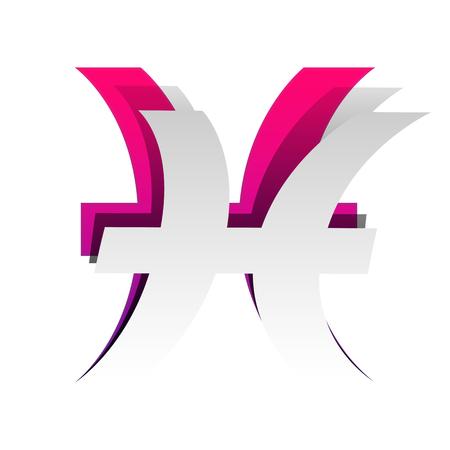 Pisces sign illustration. Vector illustration. Illustration