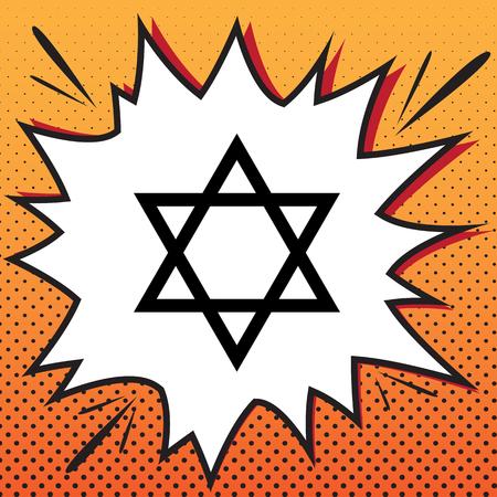 Shield Magen David Star. Symbol of Israel. Vector. Comics style Illustration