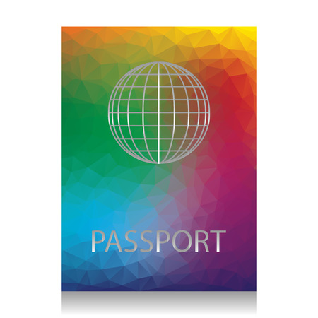 Passport sign illustration. Vector. Colorful icon with bright te