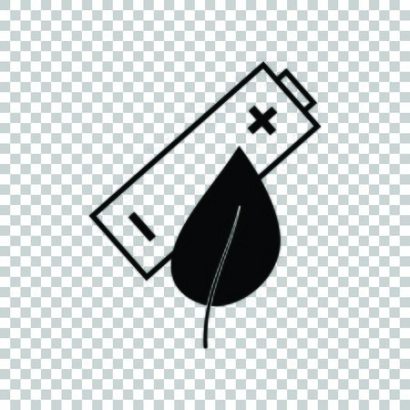 Eco Related sign. Black icon on transparent background. Ilustrace