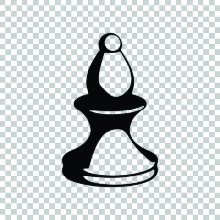Chess figures sign. Black icon on transparent background.