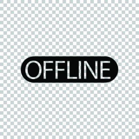 Offline sign. Black icon on transparent background. Ilustração