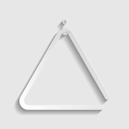 Triangle line sign. Paper style icon. Ilustracja