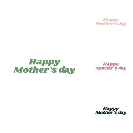 Happy mothers day. Russian green icon with small jungle green, puce and desert sand ones on white background.