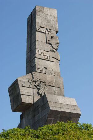 war monument on the Westerplatte in Poland in the city of Gdansk photo