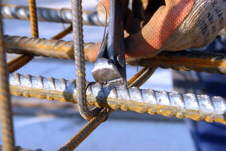ongoing: steel reinforcement rods being used in the ongoing harbour improvements