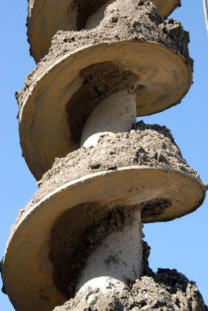 broca: La imagen muestra portarretrato de un taladro de grande  Foto de archivo