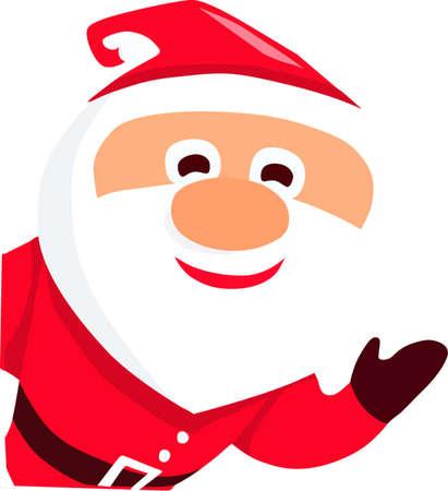 Waving Santa Illusztráció