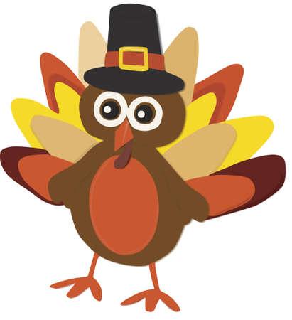 Happy turkey Vector