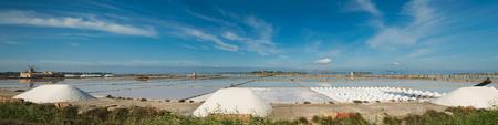 Salt-mine in Trapani, Sicily. Italy