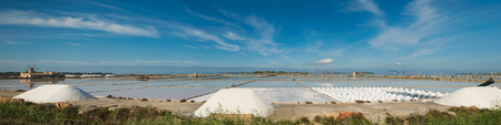 extracting: Salt-mine in Trapani, Sicily. Italy