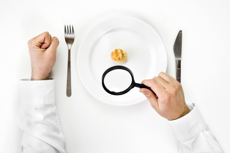 Hunger and diet concept. photo