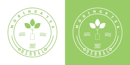 Moringa tea badge Illustration
