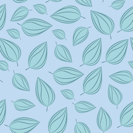 chokeberry: Seamless pattern background with autumn leaves. Vector illustration.