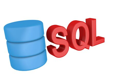 structured: SQL structured query language database search data . Icon on white background. 3D icon