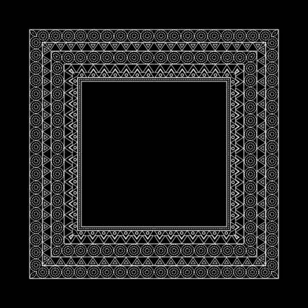 Vector Set Of Ornate Line Art Frames And Borders. Gold Outline ...