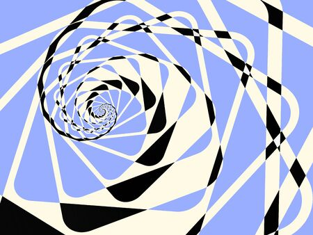 Abstract duotone light twirl background. illustration Stock Photo