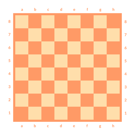Empty chessboard isolated. Board for chess or checkers game. Strategy game concept illustration. Checkerboard vector background. Vektoros illusztráció