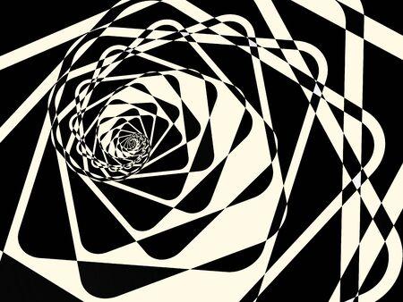 Abstract duotone dark twirl background. illustration
