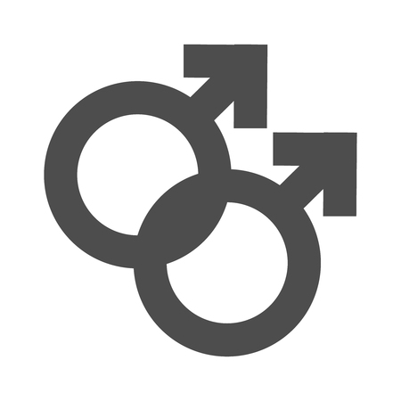 Gender inequality and equality icon symbol. Male boy man icon. Mars vector symbol. Illustration