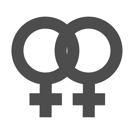 Gender inequality and equality icon symbol. Female girl woman icon. Mars vector symbol.