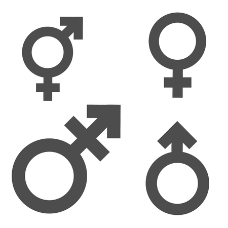 Gender inequality and equality icon symbol set.