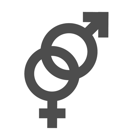 Gender inequality and equality icon symbol. Male Female girl boy woman man transgender icon. Mars vector symbol.