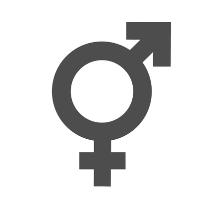 Gender inequality and equality transgender icon. Mars vector symbol. Illustration