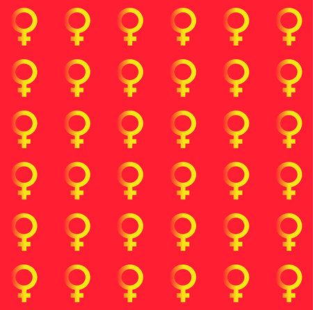 Gender inequality and equality symbol seamless endless pattern. MaleFemale, girlboy, womanman, transgender texture. Mars vector symbol. Illustration
