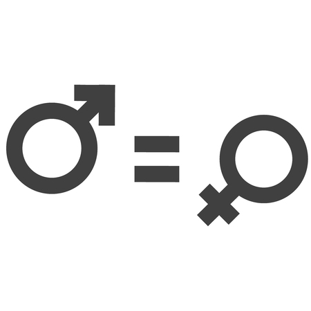 Gender inequality and equality icon symbol.