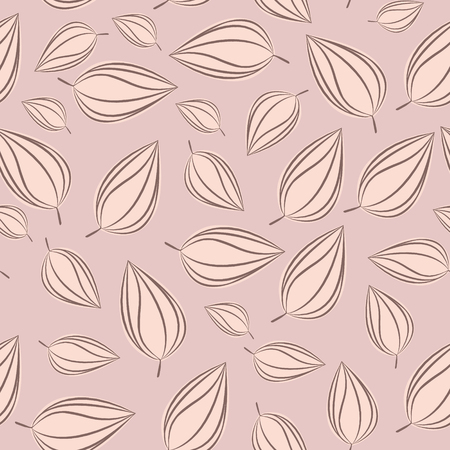 chokeberry: Seamless pattern background with autumn leaves. illustration.