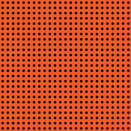 Halloween polka dot background. Orange and black dark endless seamless texture. Thanksgivings day cute pattern