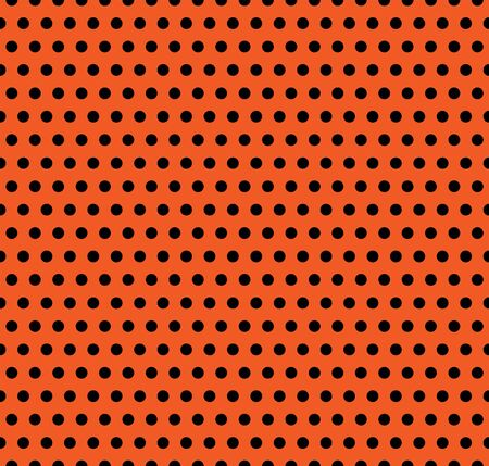 decorate: Halloween vector polka dot background. Orange and black dark endless seamless texture. Thanksgivings day cute pattern
