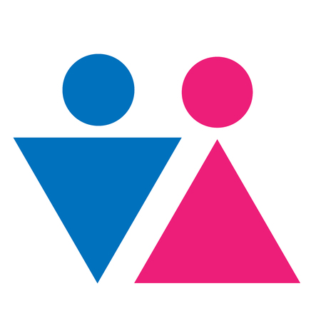 Gender Symbol Set Male Female Girl Boy Woman Man Vector Icon Stock