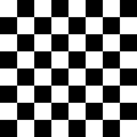 Chessboard or checker board seamless pattern in black and white. Checkered board for chess or checkers game. Strategy game conce