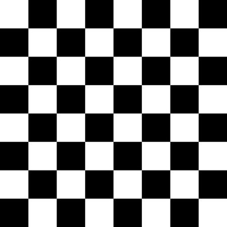 Schaakbord of checker bord naadloze patroon in zwart en wit. Geruit bord voor schaak of schijven spel. Strategie spel conce Stockfoto