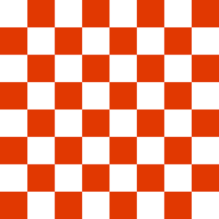Chessboard or checker board seamless pattern in red and white.