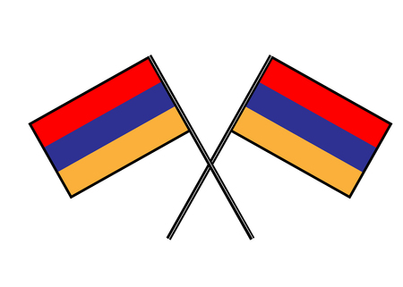 Flag of Armenia Simple vector illustration with two flags