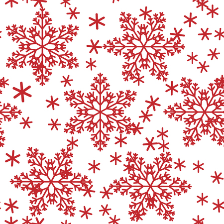 Abstract seamless background design cloth texture with snowflakes. Creative endless fabric pattern with shapes of small icy crystal shapes. Simple soft graphic tile images for wallpaper.