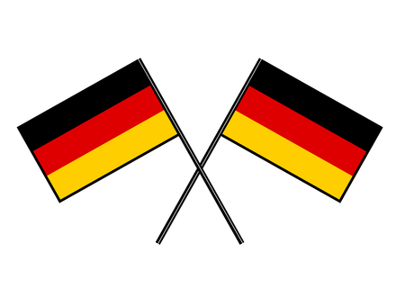 Flag of Germany. Stylization of national banner. Simple vector illustration with two flags.