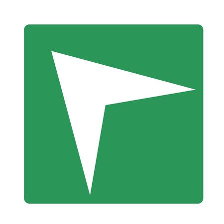 Pointer, arrow in modern flat style.